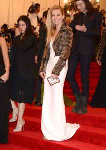 The jacket over the white dress did it for me here with Sienna Miller.